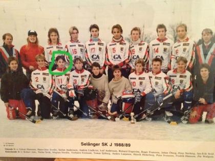 Magnus Nordin (född 1970) när han spelade ytterhalv i Selångers juniorlag.
