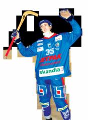Såhär spontant och naturligt kunde Wiström lyfta armarna innan axelskadan.