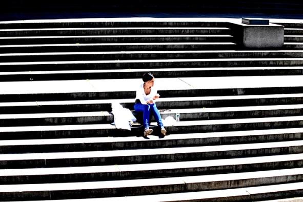 "Fotografisk konst / Fotkonst / Fototavla -""STEPS""  (Format 3x2)"
