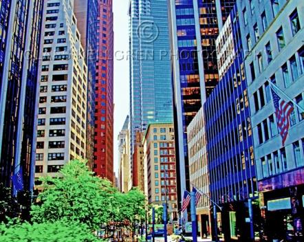 "Fotokonst / Fototavla - New York - ""WALL STREET""  (Format 5x4)"