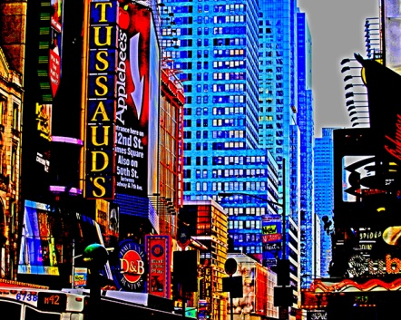 "Fotokonst / Fototavla - New York - ""MADAME TUSSAUDS""  (Format 5x4)"