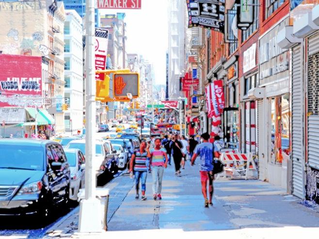 "Fotografisk konst / Fotokonst / Fototavla - New York - ""SEE YOU ON BROADWAY"" (Format 4x3)"