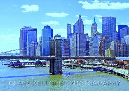 "Fottokonst / Fototavla - New York - ""SOUTH MANHATTAN"" (Format 3x2)"