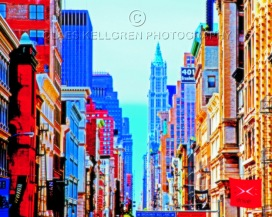 "Fotokonst / Fototavla - New York - ""401 BROADWAY  (Format (5x4))"