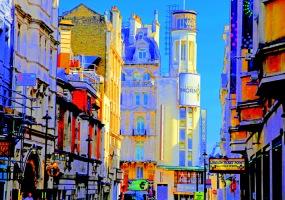 "Fotokonst / Konstfoto / Fototavla - ""LONDON SOHO""  (Format 3x2)"