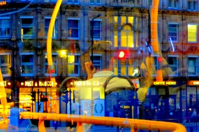 "Fotokonst / Konstfoto / Fototavla - London - ""NIGHT BUS #2"" (Format 3x2)"
