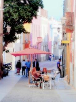 "Fotokonst / Fototavla - Las Palmas  ""EN DRINK I VEGUETA""  (Format  2x3)"