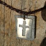 Ovanligt kors i silver