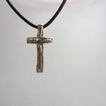 kors (24mm) silver och guld