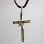 kors silver och guld( 24 mm)