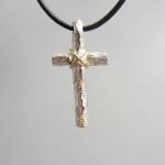 kors silver och guld( 27 mm)