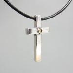 kors silver och guld ( 27 mm )