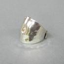 ring i silver med guld