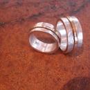 Grov ring i silver och guld