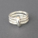 trippel silver ring