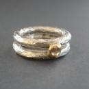 silver ring med guld