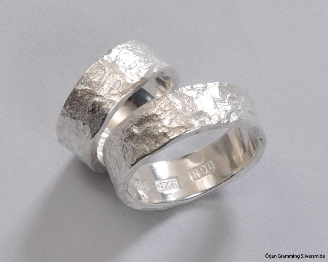 handgjorda ringar i silver