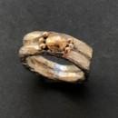 förlovningsring i silver och guld