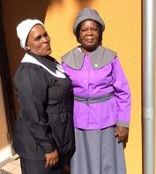 Constance Dlamini och Odhalayo Mpofu