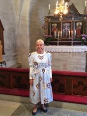 En fin klänning blev kvar hos Christina Ahlgren
