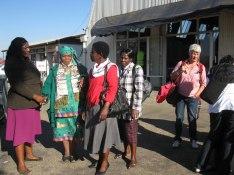 Vi tas emot på flygplatsen i Bulawayo