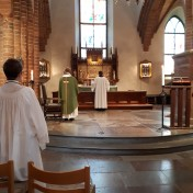 Gudstjänst firades i Helga Trefaldighets kyrka i Uppsala