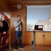 Karin och Jonas Bodin berättade om arbetet vid Dopplatsen i Jordanien.