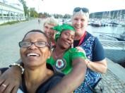 Dumsile och Vimbai for till Östersund