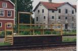 Perrong för sommartågen 90 talet med syfabriken i bakgrunden