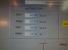 Dagens nivå i Stor & Lillbjörken