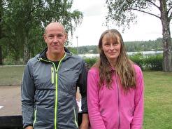 Vinnare 14 km Fredrik Rådström & Annika Kihlström