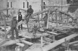 Byggnadsarbete vid Svartå bruk 1920-tal Bildkälla: Örebro stadsarkiv/fotograf okänd