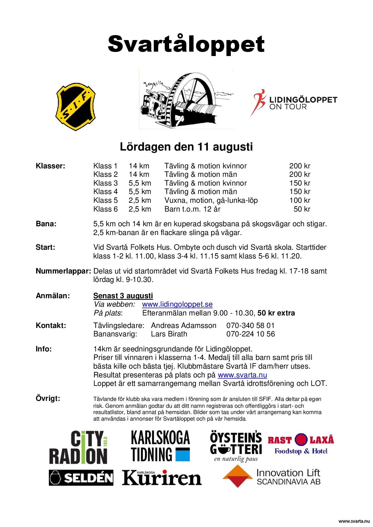 En inbjudan till Svartåloppet 2018. 8b2952f927176