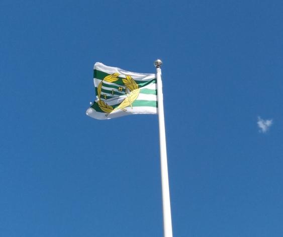 Skönt att se att flaggstängerna i Svartå används på bästa sätt.