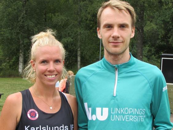 Först på 14km  Maja Blom Karlslunds IF SF   samt Johan Fagerberg Tjalve IF