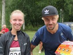 Snabbast på 5,5 km blev Sofia Larsson Karlskoga Friidrott och Rille Örn Huddinge AIS
