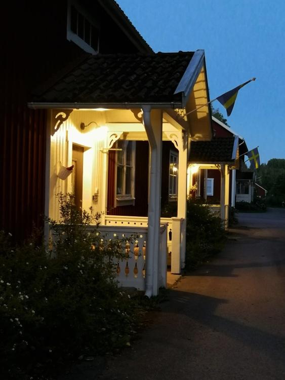 En kvällsbild från Bruksgatan Foto CJ