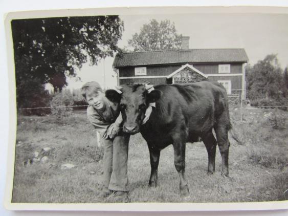 Herbert Atterstig med kompis vid Smedstorp (Farmen)