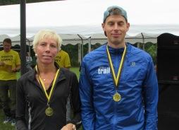 Camilla Bergdahl Karlskoga & Jimmie Johansson Team Nordic Trail vinnare på 14km