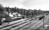 Vykort Svartå Järnvägsstation  40talet