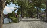 Handkolorerad bild Svartå bruksgata ca 1954