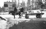 Svartå Mjölkutkörare Börje Bergström vårvintern år ca 19512