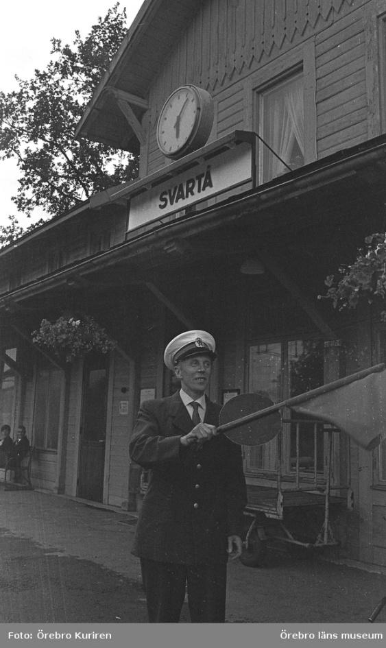 Svartå station 21 juni 1970
