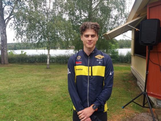 Rasmus Petterson vann Herrarnas 5,5km på tiden 20:46 tävlande för OK Djerf