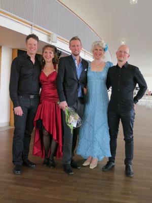 Joachim Bäckström, jag, Jonas Samuelsson, Ellika ström Meijling och Max Lörstad
