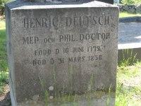 Provinsialläkaren Henric Deutsch vid kyrkan