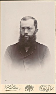 Handlanden Frans Häggström 1864-1928. Här nog fotad på 1890-talet, Ur B-G Nilssons bildsamling, Ursprung: Linds album.