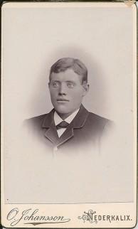 Klas Nordgren född 1872. Till USA 1903. Ur B-G Nilssons bildsamling.