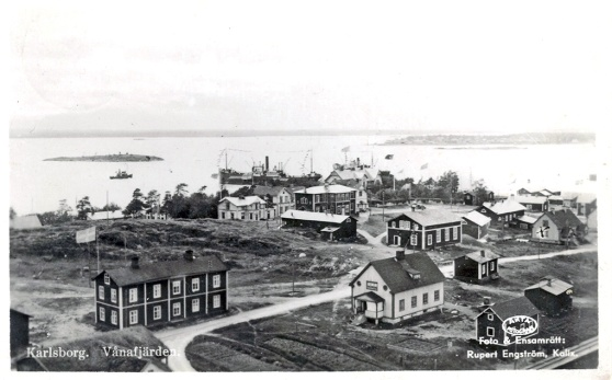 Bild från Bruksbacken, toligen tagen på 1930-talet.