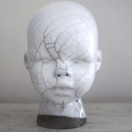 Raku Doll vit, Lisa Hammar Posse